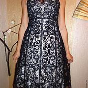 """Одежда ручной работы. Ярмарка Мастеров - ручная работа Сарафан """"Черный лебедь""""кружевной. Handmade."""