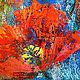 """Картины цветов ручной работы. """"Движение в Потоке"""" - авторская картина с маками маслом на холсте. ЯРКИЕ КАРТИНЫ Наталии Ширяевой. Ярмарка Мастеров."""