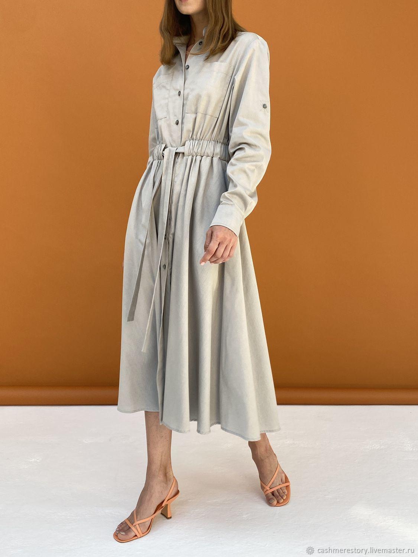 Платье-рубашка с резинкой на талии, Платья, Москва,  Фото №1