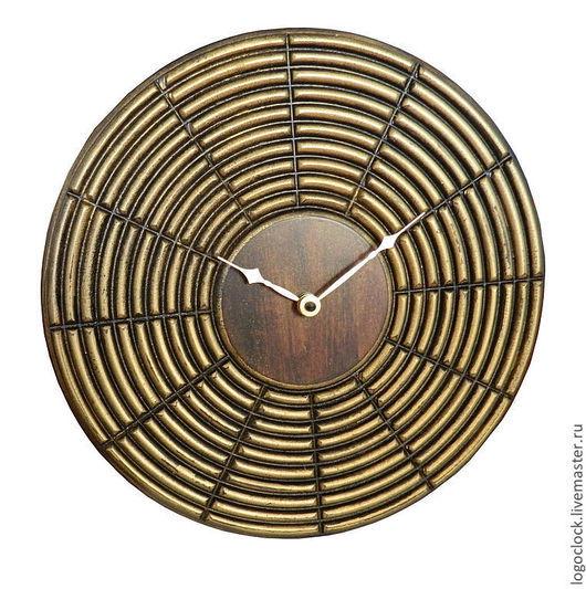 """Часы для дома ручной работы. Ярмарка Мастеров - ручная работа. Купить Настенные часы . """"Старое золото"""". """"Золото инков"""".. Handmade."""