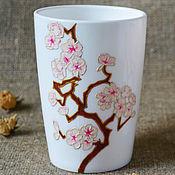 Посуда ручной работы. Ярмарка Мастеров - ручная работа Чашки с сакурой. Handmade.
