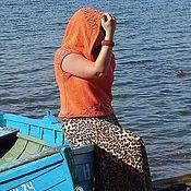 Одежда handmade. Livemaster - original item blouse Coral Blues knitted women summer copyright. Handmade.