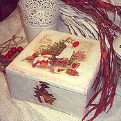 """Подарки к праздникам ручной работы. Ярмарка Мастеров - ручная работа """"В ожидании праздника"""" большая шкатулка. Handmade."""