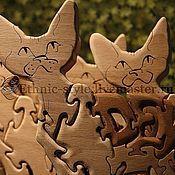 Для дома и интерьера ручной работы. Ярмарка Мастеров - ручная работа Devon Rex (Девон Рекс статуэтка-пазл). Handmade.
