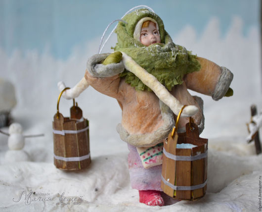 Новый год 2017 ручной работы. Ярмарка Мастеров - ручная работа. Купить Ватная елочная игрушка МАРФА НИКИТИЧНА. Handmade. вата