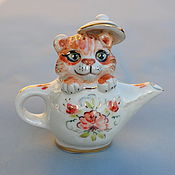 Сувениры и подарки handmade. Livemaster - original item Tiger in the teapot.Bell.. Handmade.