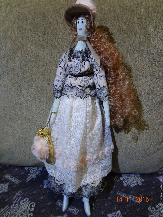 Куклы Тильды ручной работы. Ярмарка Мастеров - ручная работа. Купить Будуарная кукла Элизабет!. Handmade. Бежевый, кукла Тильда