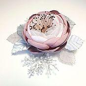 Украшения handmade. Livemaster - original item Brooch: Powdery Dew Brooch-handmade flower. Handmade.