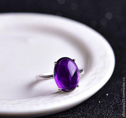 Кольца ручной работы. Ярмарка Мастеров - ручная работа. Купить Серебряное кольцо с аметистом. Handmade. Кольцо, серебро, аметист, серебро