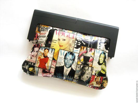 """Женские сумки ручной работы. Ярмарка Мастеров - ручная работа. Купить Клатч из кожи   """" Vogue """" из двух видов кожи. Handmade."""