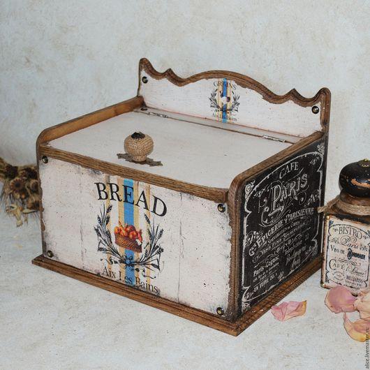 Кухня ручной работы. Ярмарка Мастеров - ручная работа. Купить Parisienne хлебница из ясеня. Handmade. Белый, хлебница