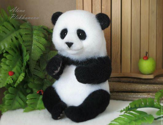 Игрушки животные, ручной работы. Ярмарка Мастеров - ручная работа. Купить Панда. Handmade. Чёрно-белый, подарок, китайский стиль