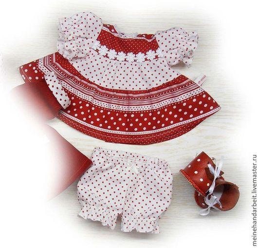 """Шитье ручной работы. Ярмарка Мастеров - ручная работа. Купить МК """"Трехярусное платье на кокетке"""" из серии """"Одежда для кукол"""". Handmade."""