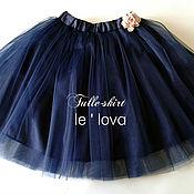 Юбка ручной работы. Ярмарка Мастеров - ручная работа Детская юбка-пачка из фатина цвет Полночный синий. Handmade.