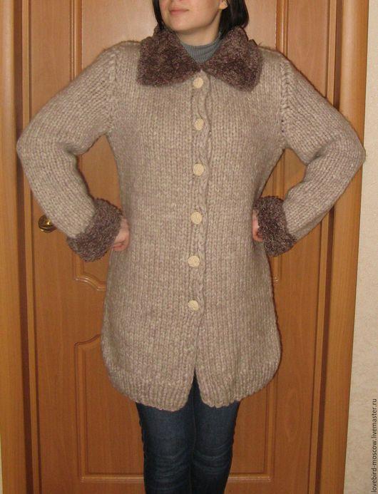 """Верхняя одежда ручной работы. Ярмарка Мастеров - ручная работа. Купить Полупальто """"Осень"""". Handmade. Бежевый, Пальто ручной работы"""