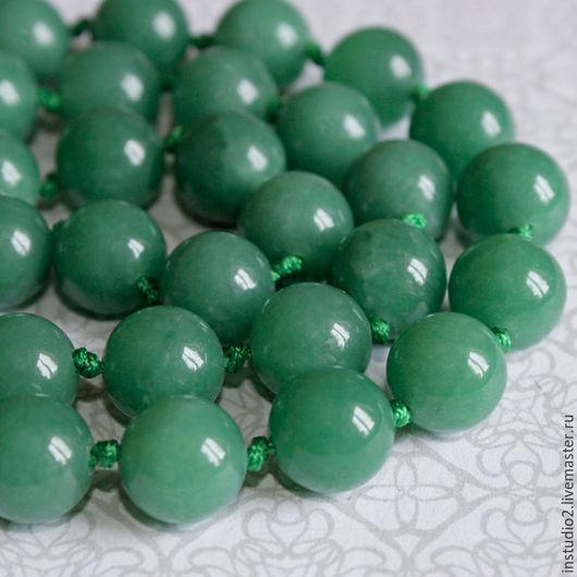 Для украшений ручной работы. Ярмарка Мастеров - ручная работа. Купить Нефрит 10 мм шар гладкий - бусины камни для украшений. Handmade.