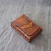 Сумки и аксессуары handmade. Livemaster - original item Cigarette case. sigaretta. Snake. Handmade.