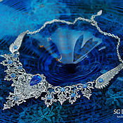 Necklace handmade. Livemaster - original item Necklace silver Selena Kyanite Blue Prom 2015. Handmade.
