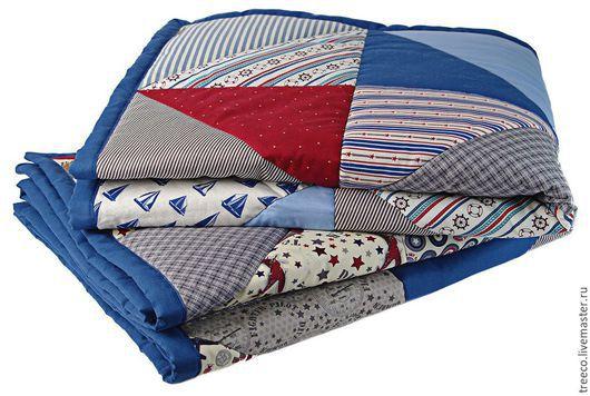 Пледы и одеяла ручной работы. Ярмарка Мастеров - ручная работа. Купить Два одеяла (с авиацией и морское). Handmade.