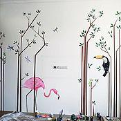 Дизайн ручной работы. Ярмарка Мастеров - ручная работа Роспись стен. Handmade.