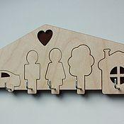 Для дома и интерьера ручной работы. Ярмарка Мастеров - ручная работа Ключница деревянная с крючками.. Handmade.