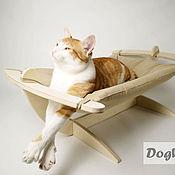 Аксессуары для питомцев ручной работы. Ярмарка Мастеров - ручная работа Гамак для кошек - Бежевый мягкий. Handmade.