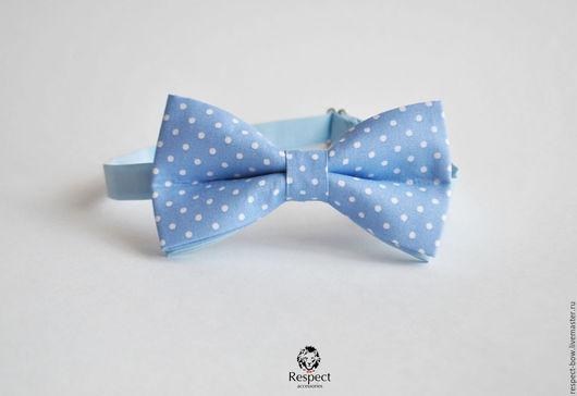 Галстуки, бабочки ручной работы. Ярмарка Мастеров - ручная работа. Купить Галстук бабочка Голубая лагуна / бабочка-галстук, голубая свадьба. Handmade.