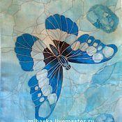 """Аксессуары ручной работы. Ярмарка Мастеров - ручная работа Шарф """"Бабочки-самоцветы""""-3. Бирюза.. Handmade."""