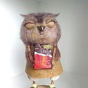 Куклы и игрушки ручной работы. Ярмарка Мастеров - ручная работа Сова с шоколадкой. Handmade.