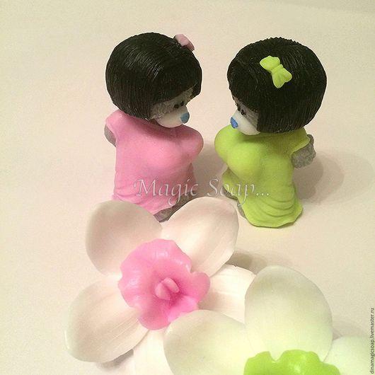 Мыло ручной работы. Ярмарка Мастеров - ручная работа. Купить мыло Мишка Гейша  ( орхидея входит в стоимость). Handmade.