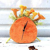 Для дома и интерьера ручной работы. Ярмарка Мастеров - ручная работа Часы с лисичками. Handmade.