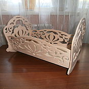 Куклы и игрушки handmade. Livemaster - original item A cradle for a doll 196. Handmade.