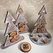 Подарки к праздникам ручной работы. Ярмарка Мастеров - ручная работа Дизайнерская елочка. Handmade.