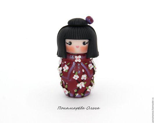 Миниатюра ручной работы. Ярмарка Мастеров - ручная работа. Купить Аика - кокэси. Кукла из полимерной глины. Handmade. кукла в подарок