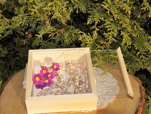 Шкатулка для драгоценностей, упаковка для украшений, заготовка шкатулки, для украшений, шкатулка со стеклом