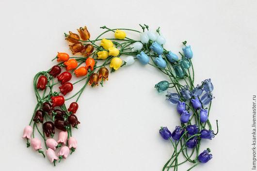 """Для украшений ручной работы. Ярмарка Мастеров - ручная работа. Купить Бусины """"Букет колокольчиков"""". Handmade. Бусины, цветы в украшении"""