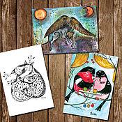 Открытки handmade. Livemaster - original item Cards: Three postcards with fairy Tales of our choice!. Handmade.
