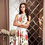 Одежда ручной работы. Ярмарка Мастеров - ручная работа Длинное белое платье, нарядное платье в пол, летнее платье вечернее. Handmade.