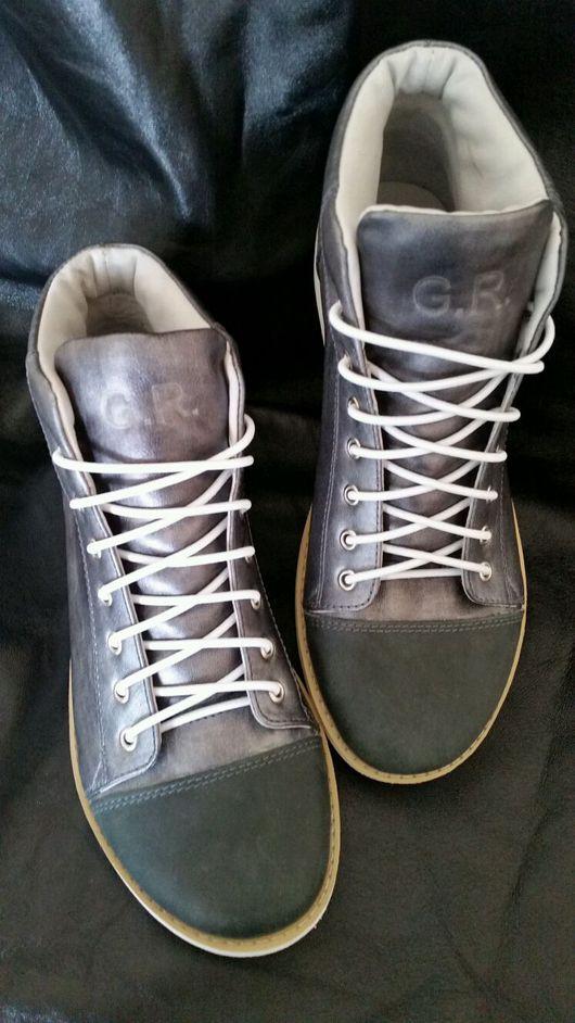 Обувь ручной работы. Ярмарка Мастеров - ручная работа. Купить Кеды кожаные ручной работы.. Handmade. Кеды, натуральная кожа