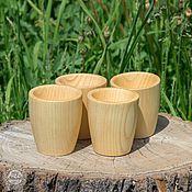 Посуда handmade. Livemaster - original item Wooden Cups Set(4#6. Handmade.