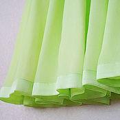 """Одежда ручной работы. Ярмарка Мастеров - ручная работа Юбка шелковая """"Дыхание лета"""" зеленая. Handmade."""