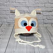 """Работы для детей, ручной работы. Ярмарка Мастеров - ручная работа Детская шапка """"Сова"""". Handmade."""