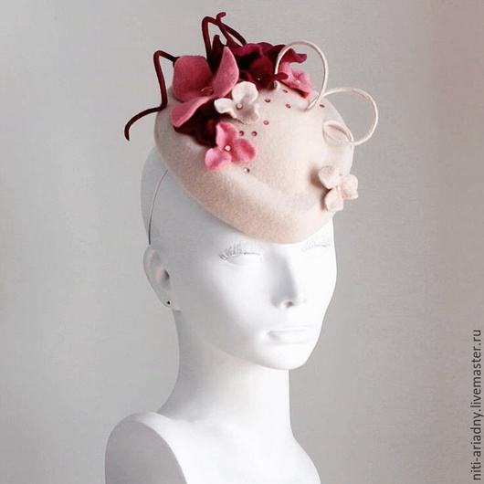 """Шляпы ручной работы. Ярмарка Мастеров - ручная работа. Купить Шляпка """"Дыхание весны"""". Handmade. Белый, пилотка, шляпка для девушки"""