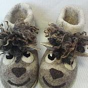 """Обувь ручной работы. Ярмарка Мастеров - ручная работа валяная домашняя обувь """"Серая  овечка"""" сделаю на заказ.. Handmade."""