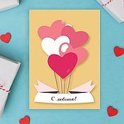 handmade. Livemaster - original item Set of Valentine`s day cards. Handmade.