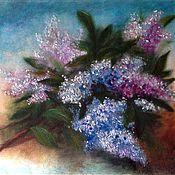 Картины и панно handmade. Livemaster - original item Fragrant lilacs. Handmade.