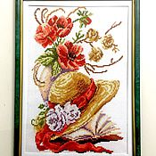 """Картины и панно ручной работы. Ярмарка Мастеров - ручная работа Вышивка крестом """"Поэзия"""". Handmade."""