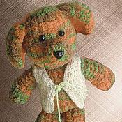 Куклы и игрушки ручной работы. Ярмарка Мастеров - ручная работа Плюшевая собачка (вязаная). Handmade.