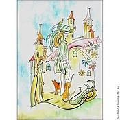 Картины и панно ручной работы. Ярмарка Мастеров - ручная работа Весна и кошки. Handmade.