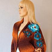 """Одежда ручной работы. Ярмарка Мастеров - ручная работа Кофта-болеро """"Коррозия в цветах"""". Handmade."""